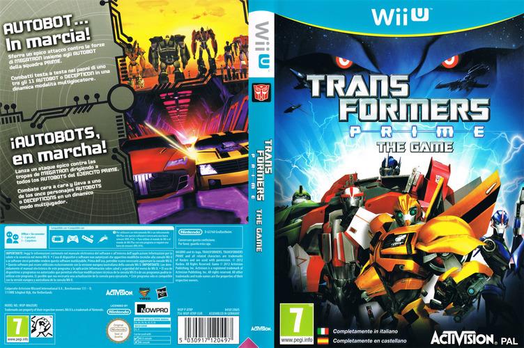 Transformers Prime: The Game WiiU coverfullM (ATRP52)