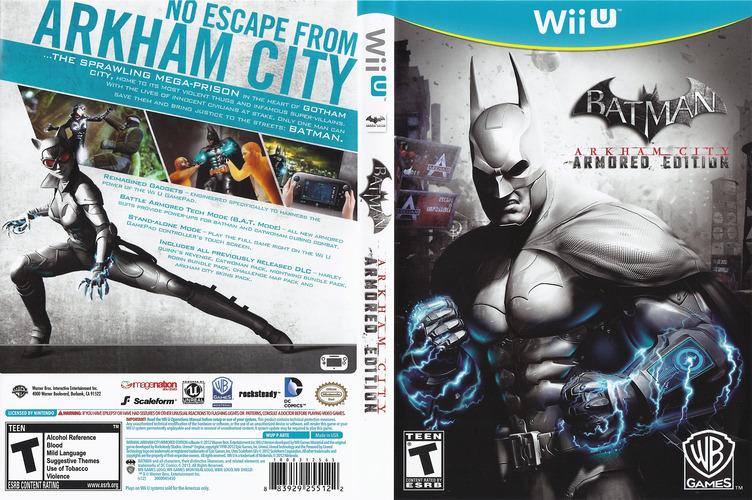 Batman Arkham City: Armored Edition WiiU coverfullM (ABTEWR)