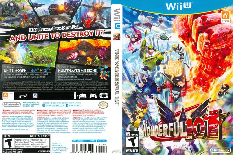 The Wonderful 101 WiiU coverfullM (ACME01)