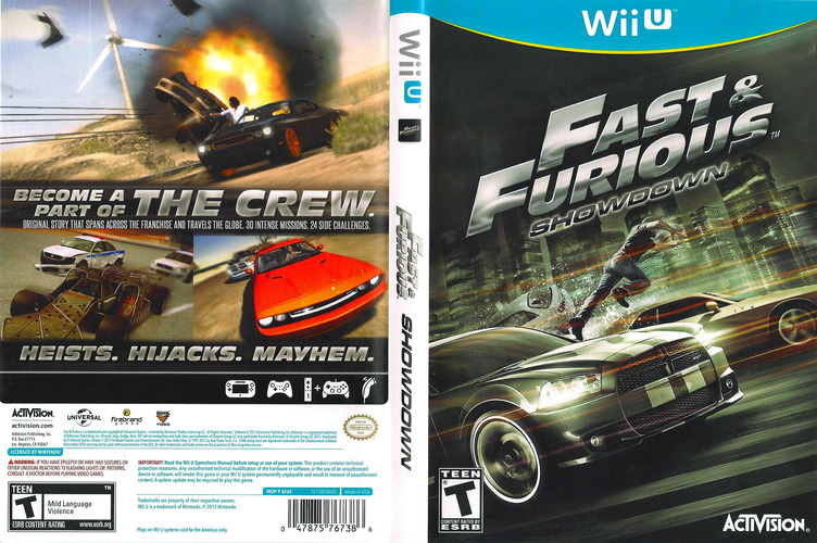 Fast and Furious: Showdown WiiU coverfullM (AF6E52)