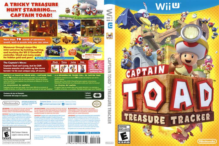 Captain Toad: Treasure Tracker WiiU coverfullM (AKBE01)