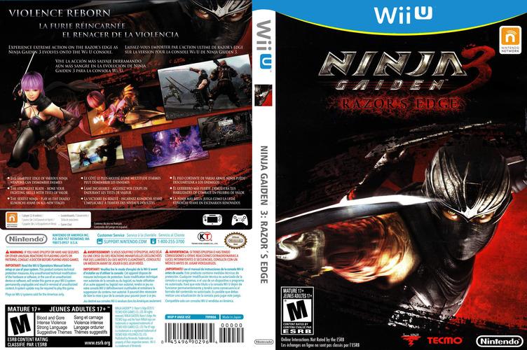 Ninja Gaiden 3: Razor's Edge WiiU coverfullM (ANGE01)