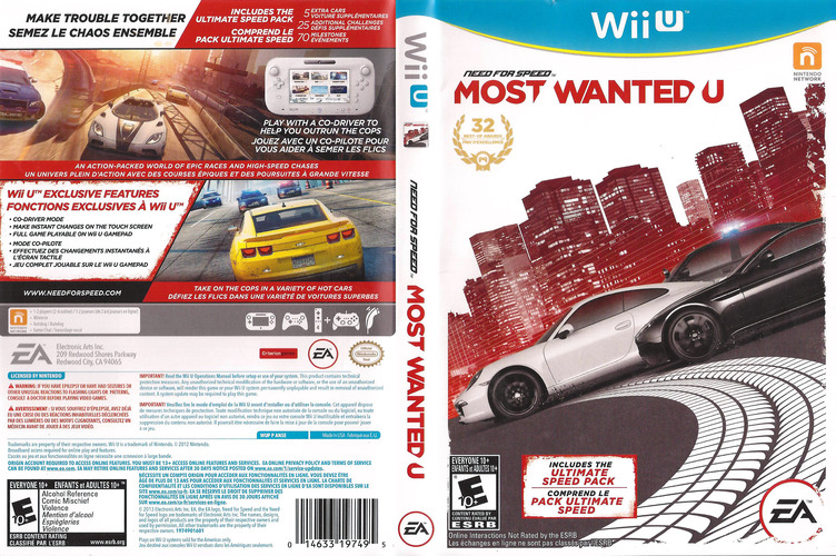 Need for Speed: Most Wanted U WiiU coverfullM (ANSE69)