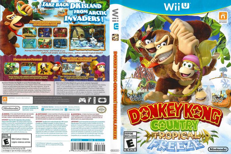 Donkey Kong Country: Tropical Freeze WiiU coverfullM (ARKE01)