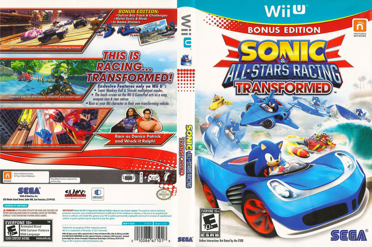 Sonic & All-Stars Racing Transformed WiiU coverfullM (AS2E8P)