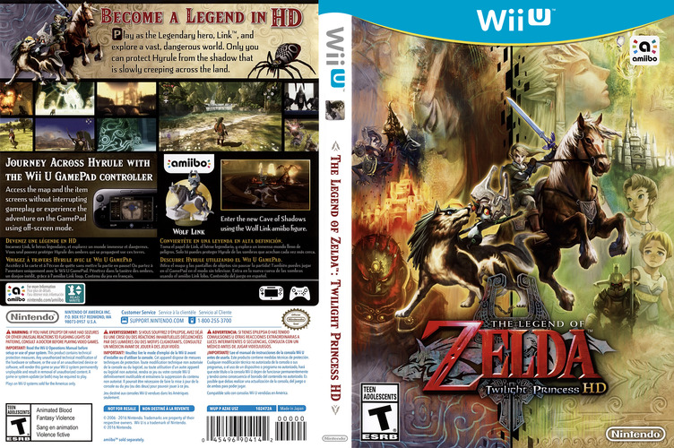 The Legend of Zelda: Twilight Princess HD WiiU coverfullM (AZAE01)