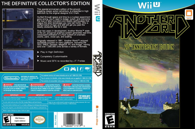 Another World: 20th Anniversary Edition WiiU coverfullM (WEUE)