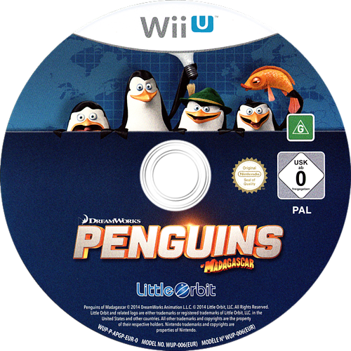 Penguins of Madagascar WiiU discM (APGPVZ)