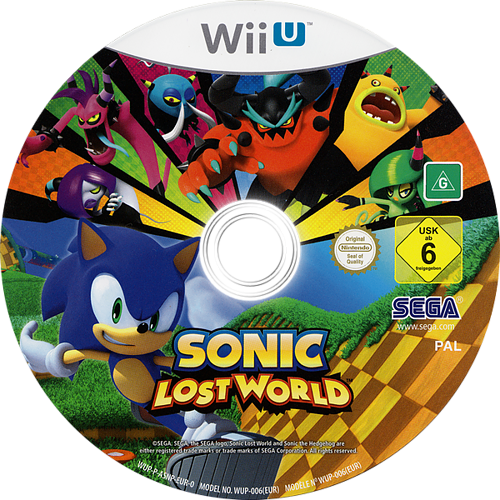 Sonic Lost World WiiU discM (ASNP8P)