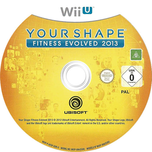 Your Shape: Fitness Evolved 2013 WiiU discM (AYSP41)