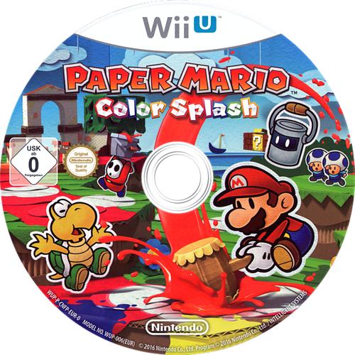 Paper Mario: Color Splash WiiU discM (CNFP01)