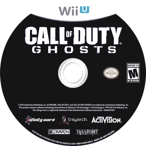 Call of Duty: Ghosts WiiU discM (ACPE52)