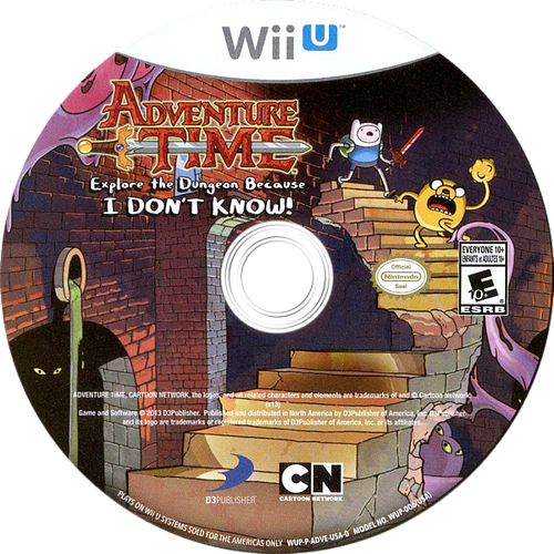 Adventure Time: Explore the Dungeon Because I DON'T KNOW! WiiU discM (ADVEG9)
