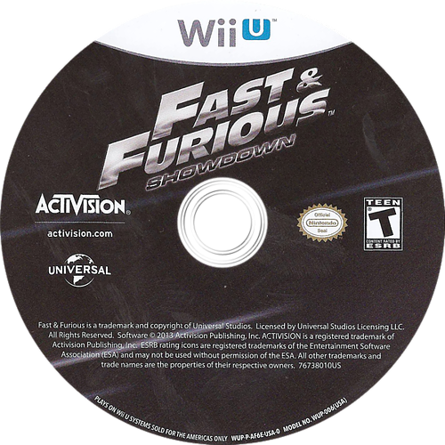 Fast and Furious: Showdown WiiU discM (AF6E52)