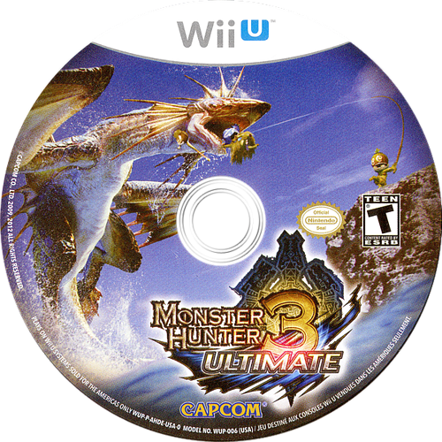 Monster Hunter 3 Ultimate WiiU discM (AHDE08)