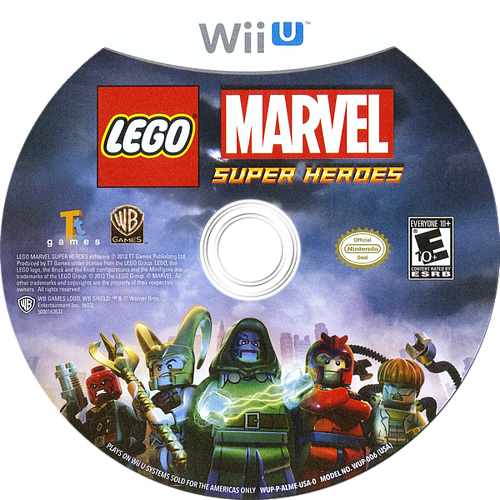LEGO Marvel Super Heroes WiiU discM (ALMEWR)