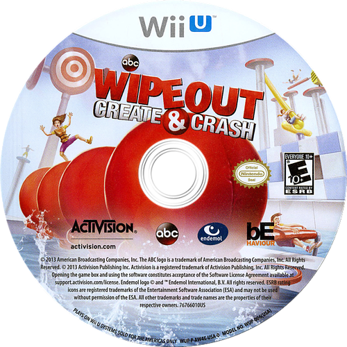 Wipeout: Create & Crash WiiU discM (AW4E52)