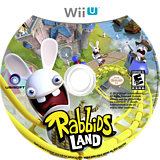 Rabbids Land WiiU disc (ARBE41)