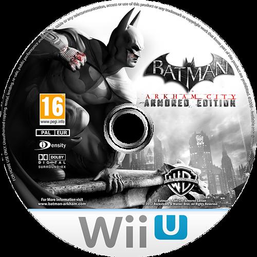 Batman Arkham City: Armoured Edition WiiU disccustomM (ABTPWR)