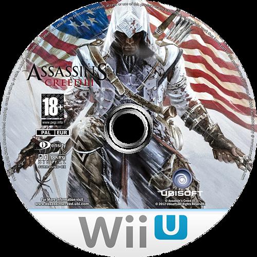 Assassin's Creed III WiiU disccustomM (ASSP41)