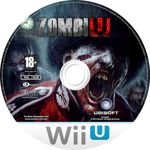 ZombiU WiiU disccustomM (AZUD41)