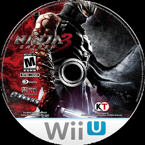Ninja Gaiden 3: Razor's Edge WiiU disccustomM (ANGE01)