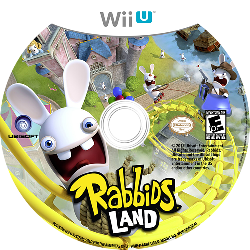 Rabbids Land WiiU disccustomM (ARBE41)