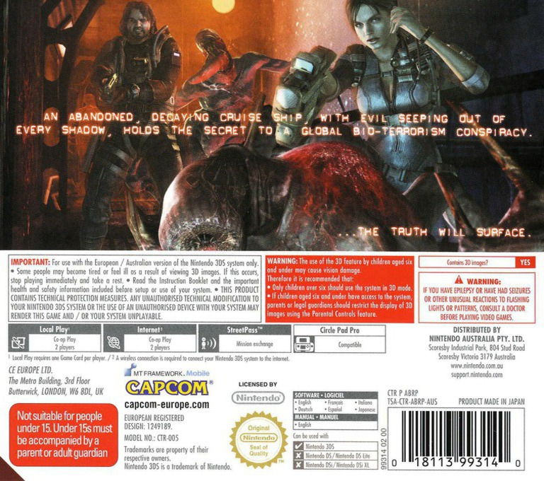 Resident Evil - Revelations 3DS backHQ (ABRP)