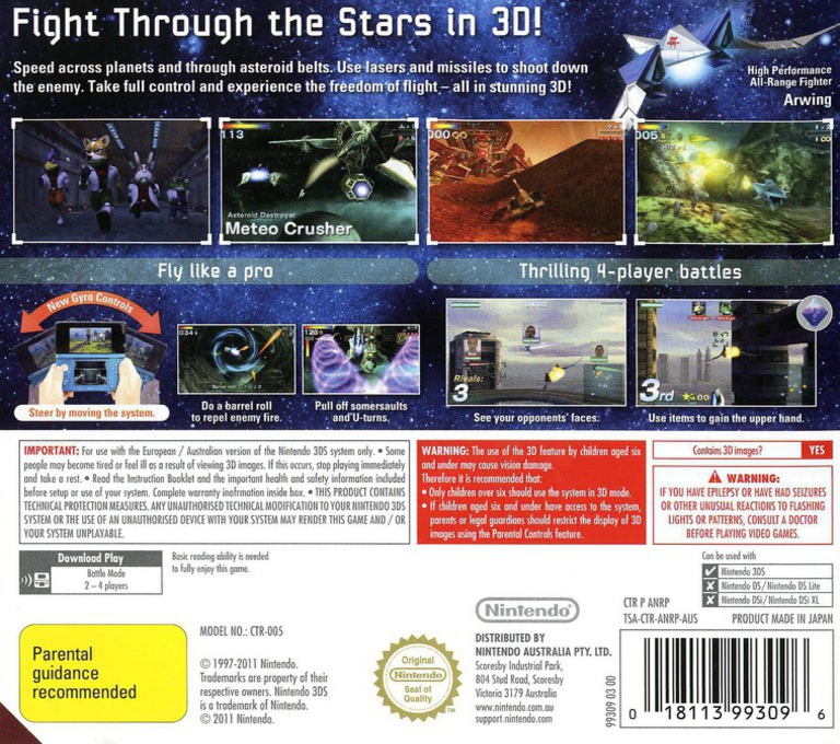 Star Fox 64 3D 3DS backHQ (ANRP)