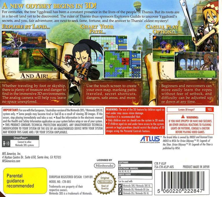 Etrian Odyssey IV - Legends of the Titan 3DS backHQ (ASJP)