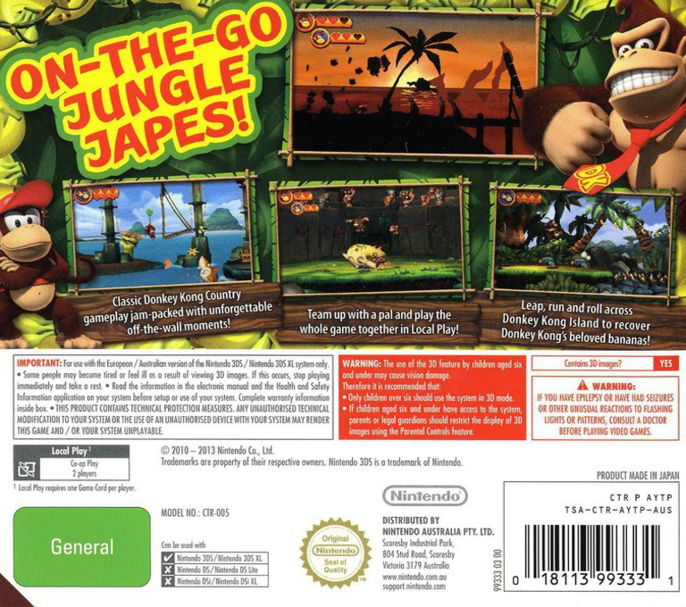 Donkey Kong Country Returns 3D 3DS backHQ (AYTP)