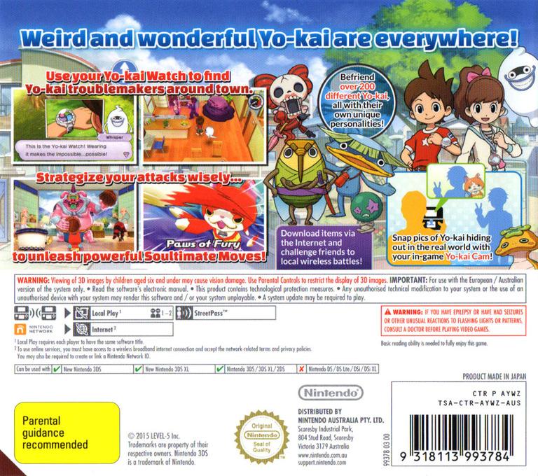 Yo-Kai Watch 3DS backHQ (AYWZ)