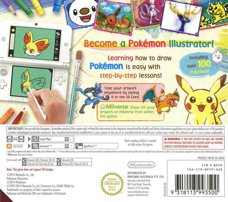 Pokémon Art Academy 3DS backHQ (BPCP)