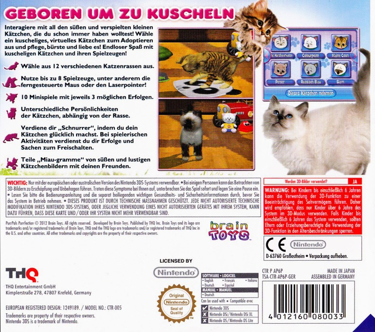 Meine ersten Katzenbabys 2 3DS backHQ (AP6P)
