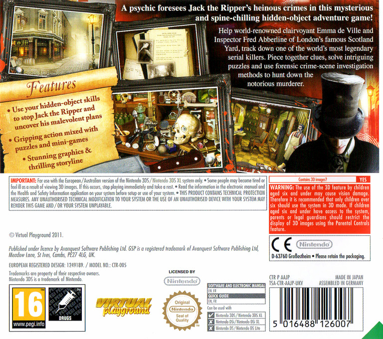 Mystery Murders - Jack the Ripper 3DS backHQ (AAJP)