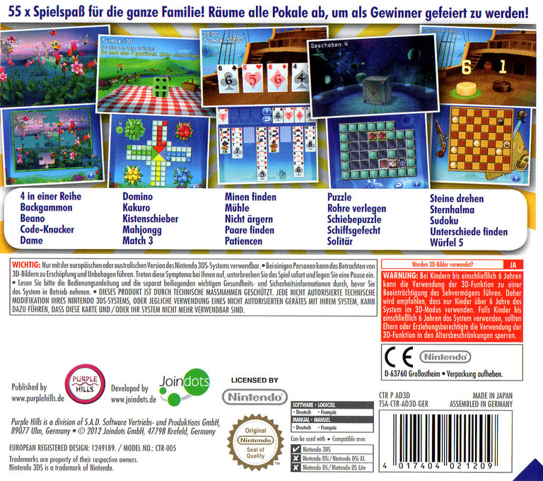 3D Game Collection - 55 in 1 3DS backHQ (AD3D)