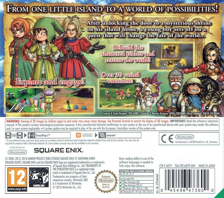 Dragon Quest VII: Fragments of the Forgotten Past 3DS backHQ (AD7P)
