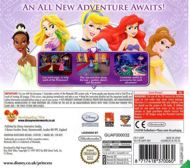 Disney Princess - My Fairytale Adventure 3DS backHQ (ADPP)