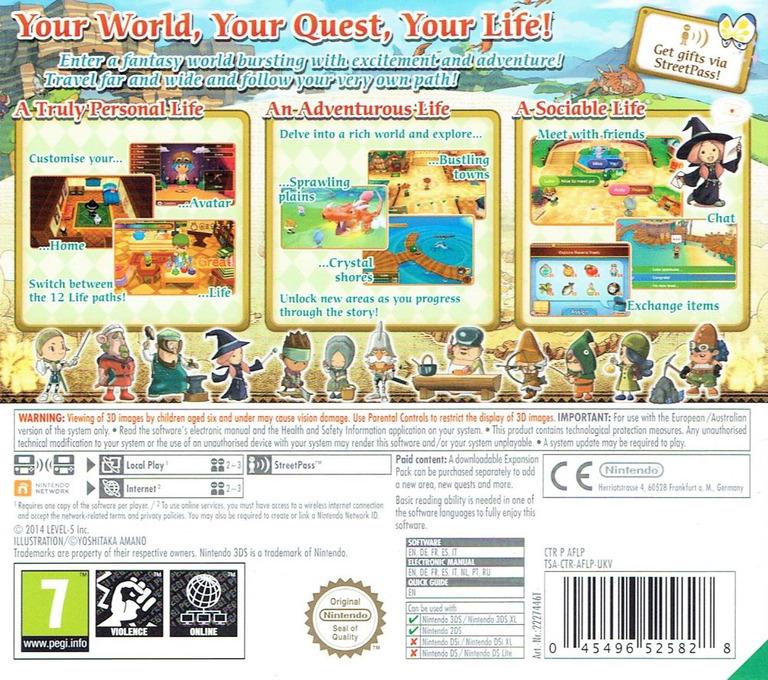 Fantasy Life 3DS backHQ (AFLP)