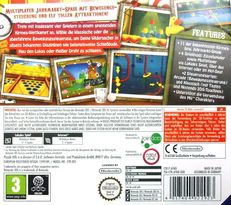 Funfair Party Games 3DS backHQ (AFND)