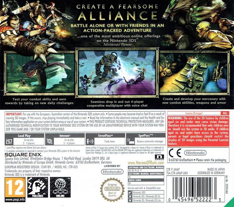 Heroes of Ruin 3DS backHQ (AH6P)
