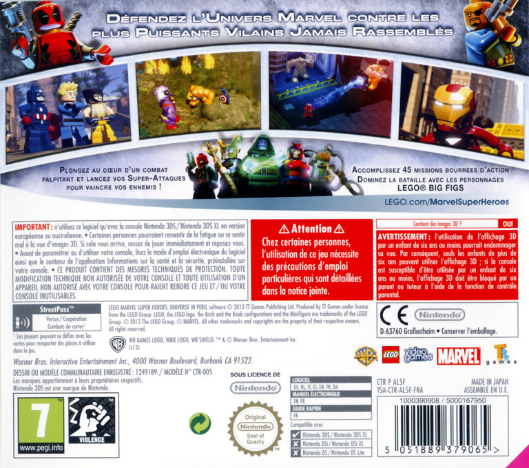 LEGO Marvel Super Heroes - Universe in Peril 3DS backHQ (AL5F)