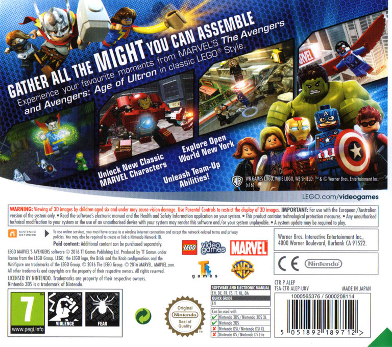 LEGO Marvel's Avengers 3DS backHQ (ALEP)