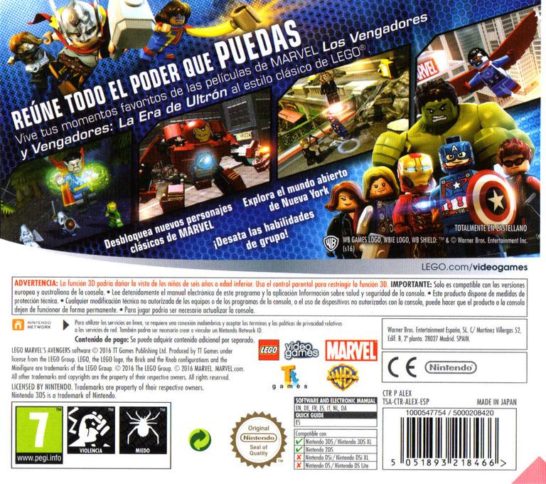 LEGO Marvel's Avengers 3DS backHQ (ALEX)