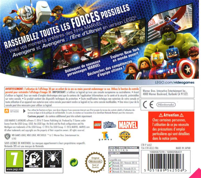 LEGO Marvel's Avengers 3DS backHQ (ALEZ)