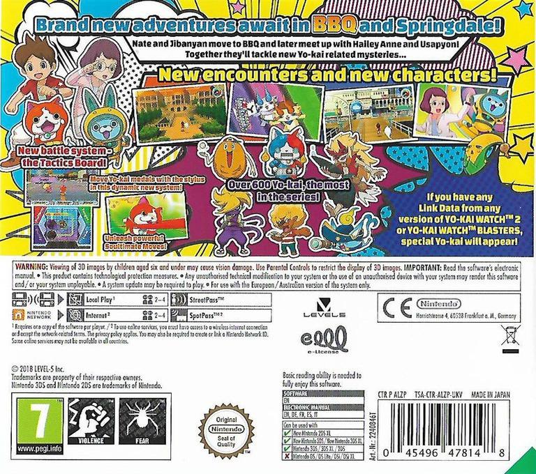 Yo-Kai Watch 3 3DS backHQ (ALZP)