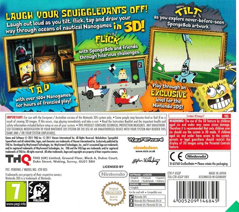 SpongeBob SquigglePants 3DS backHQ (ASGP)
