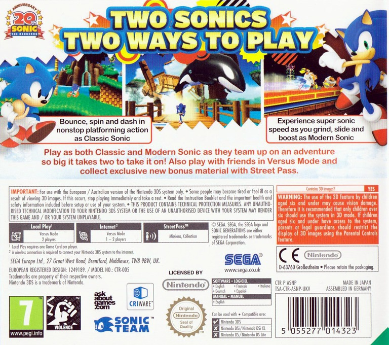 Sonic Generations 3DS backHQ (ASNP)
