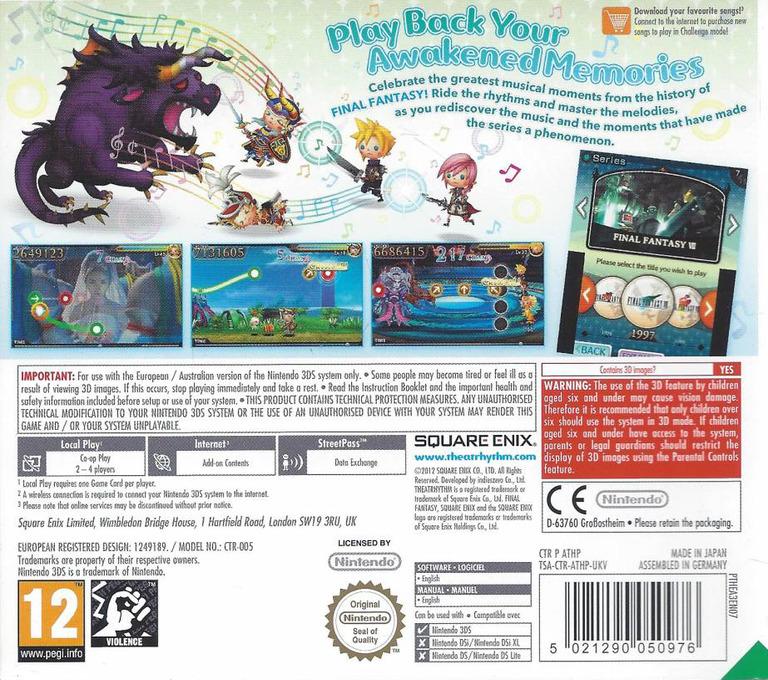 Theatrhythm Final Fantasy 3DS backHQ (ATHP)