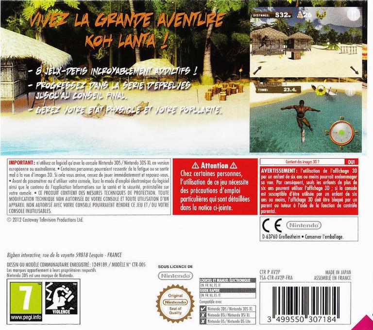 Survivor 3D - The Ultimate Adventure 3DS backHQ (AV2P)